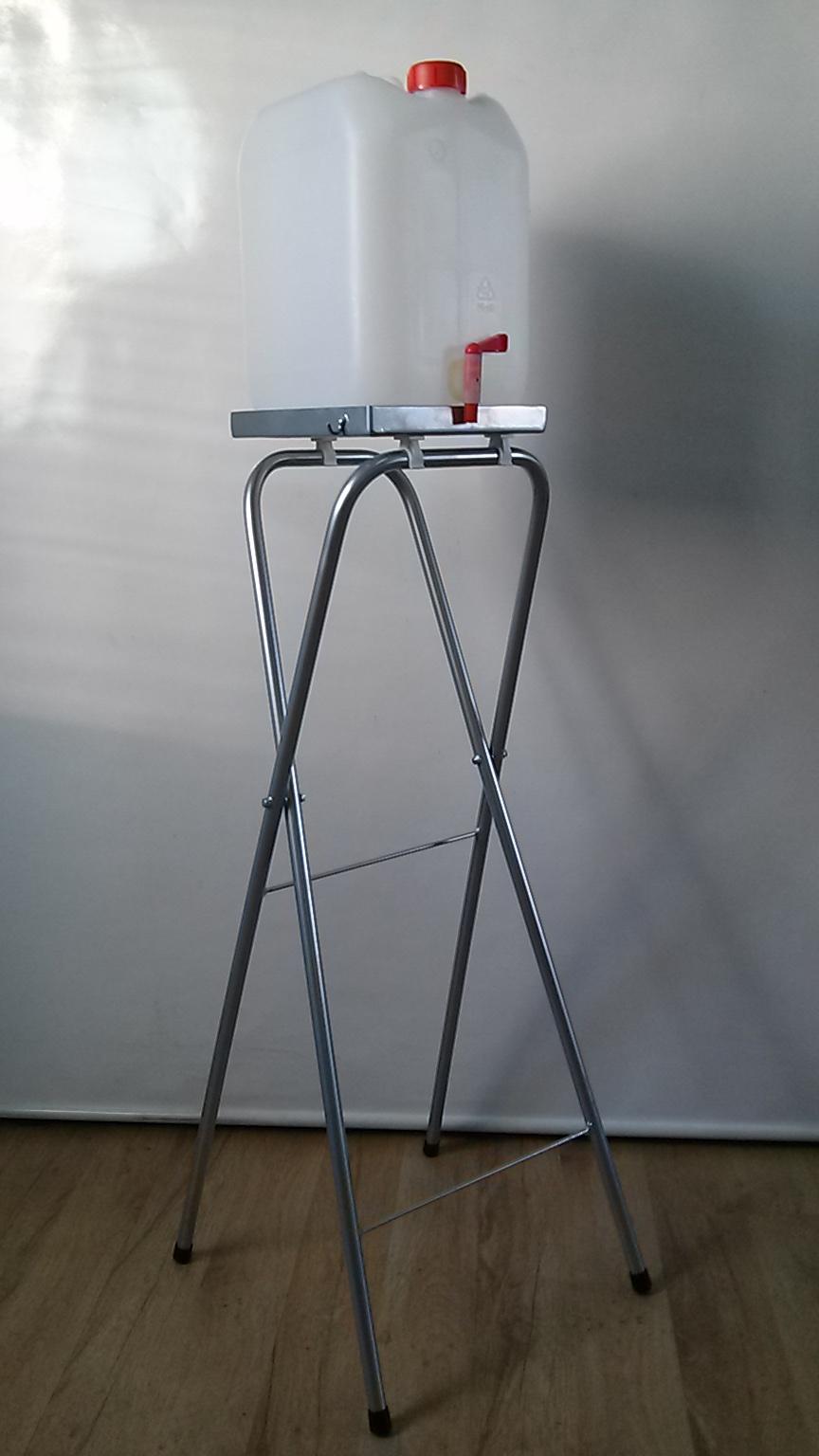Kanister 10L z kranem ze stojakiem