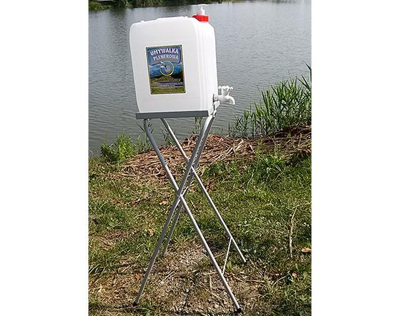 Umywalka plenerowa (duży kran) - 20l ze stojakiem
